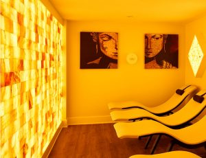 Relaxation Room with Yellow Light